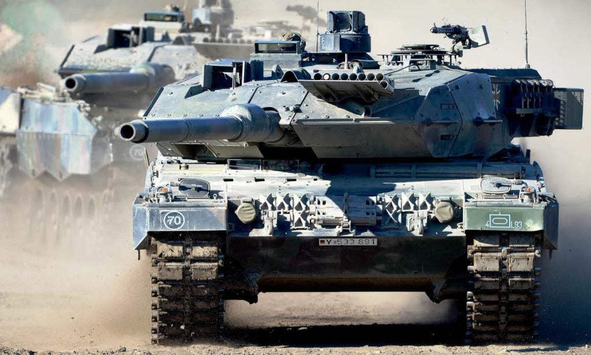 Exportschlager: Der deutsche  Kampfpanzer Leopard  | Foto: dpa