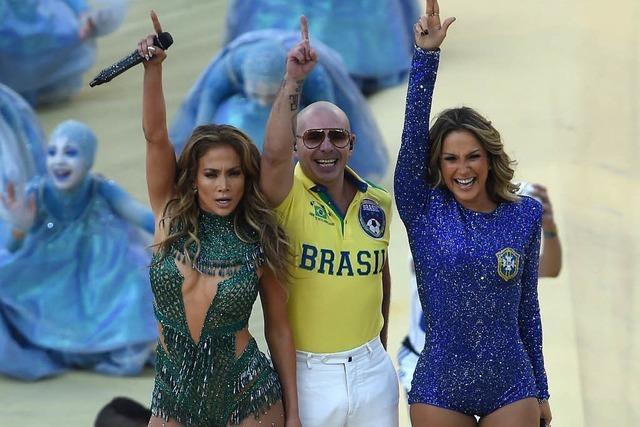 Fußball-WM in Brasilien mit Spektakel eröffnet – begleitet von Protesten