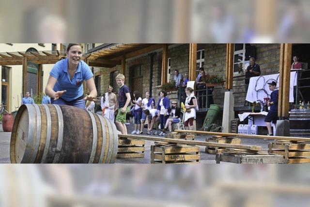 Sportliche Prinzessinnen bei der Winzerolympiade in Oberrotweil