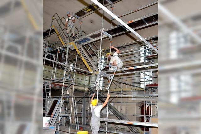 Sanierung der St. Blasius Pfarrkirche soll bis Weihnachten beendet sein