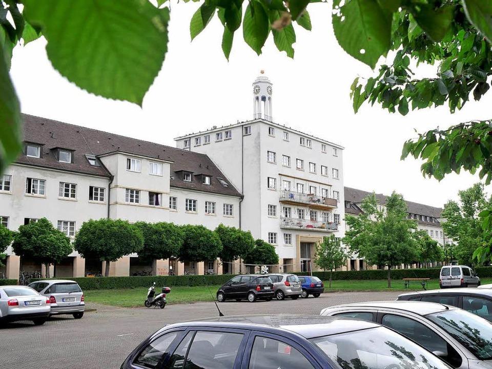 Im Innenhof des Händelwohnheims sollen Neubauten mit 159 Plätzen entstehen.  | Foto: Thomas Kunz