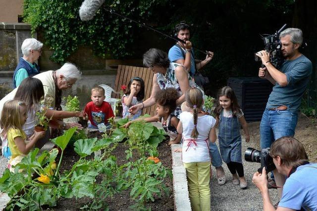 ZDF dreht Imagefilm im Garten der Generationen