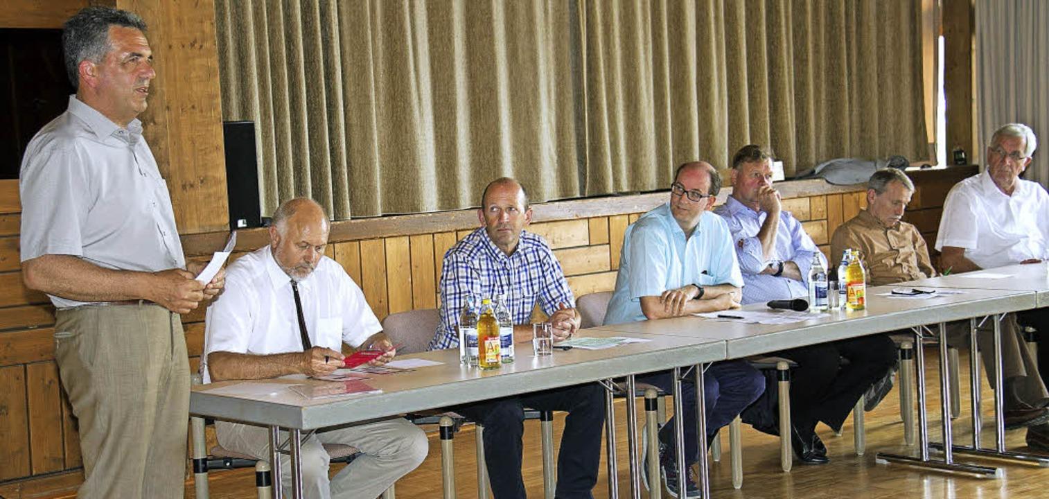 FDP-Veranstaltung in Grafenhausen (von...hael Kasprowicz und Ernst Burgbacher.   | Foto: Dieckmann