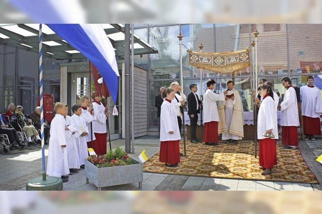 Prozession an Fronleichnam