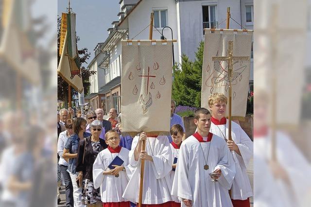 Prozession zu Fronleichnam