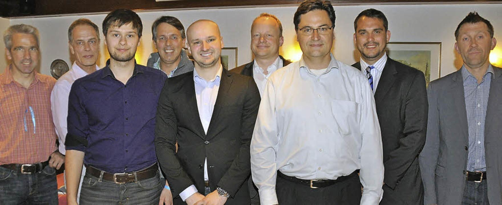 Der neue AfD-Vorstand (von links): Mar...m Hausen (es fehlt Andreas Juschkat).   | Foto: Steckmeister