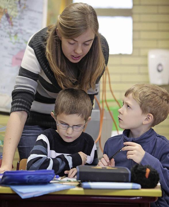 In der  Grundschule lernen gut hörende...it hörgeschädigten Schülern zusammen.   | Foto: BZ-Archiv: Christoph Breithaupt