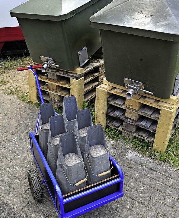 Erinnern an den Kohlenkeller: die  Schütten für den Bremssand.  | Foto: Thomas Kunz
