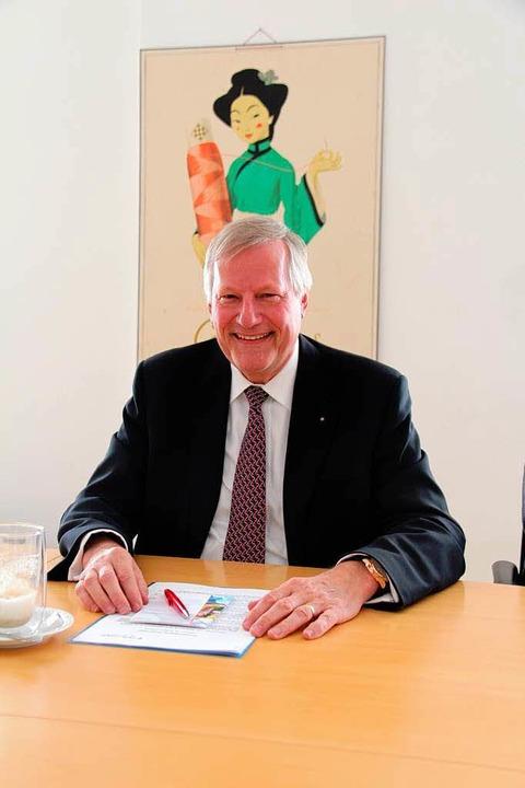 Familienfremd: Vorsitzender Peter Zwicky  | Foto: Gerda Oswald