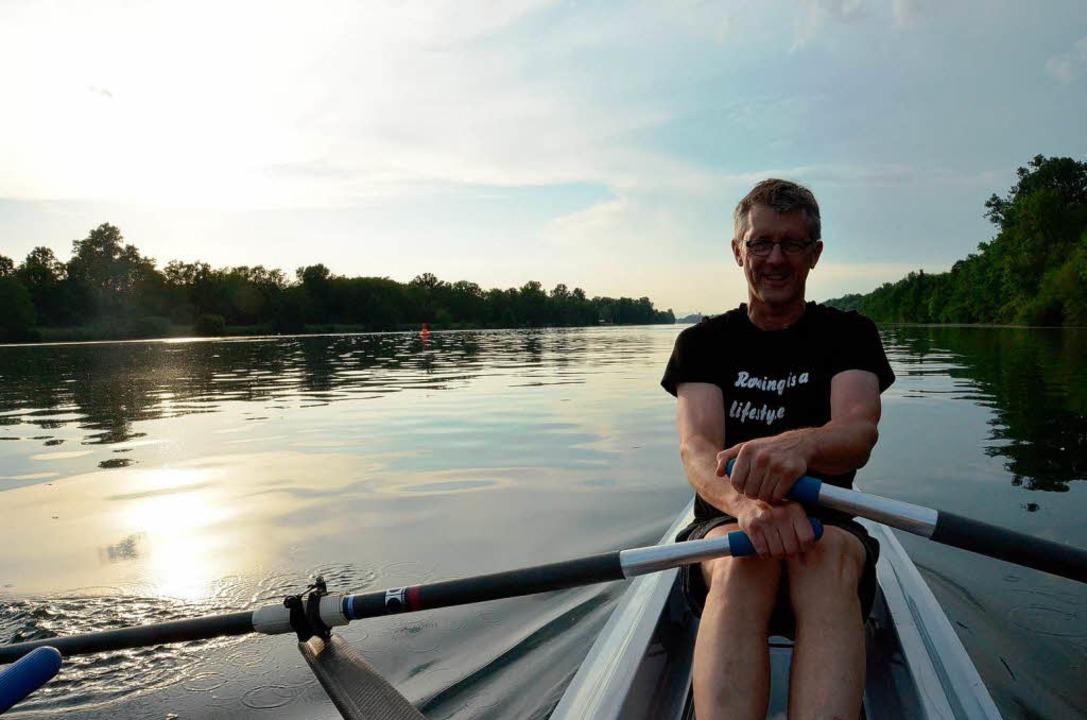 Ein wahrer Knochenjob: Michael Weber beim  Training  | Foto: Nadine Zeller