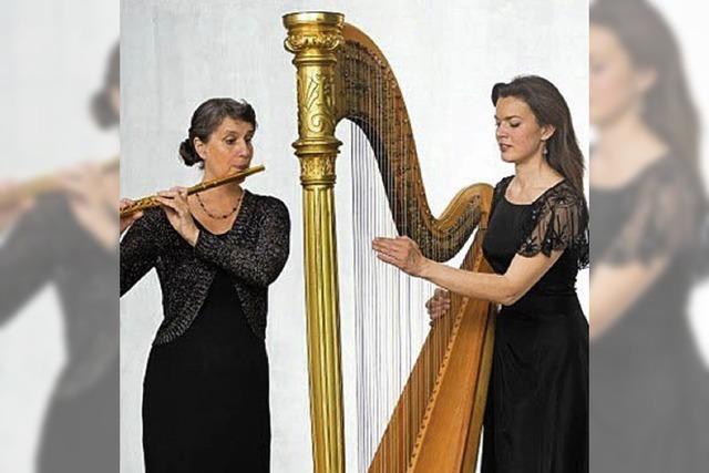 Harfe und Flöte in der Kirche