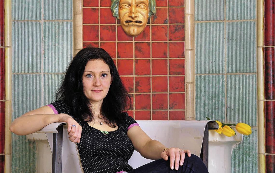 Seltene Gabe für Komik und Satire in d... Dramenliteratur: Rebekka Kricheldorf     Foto: Thomas Kunz