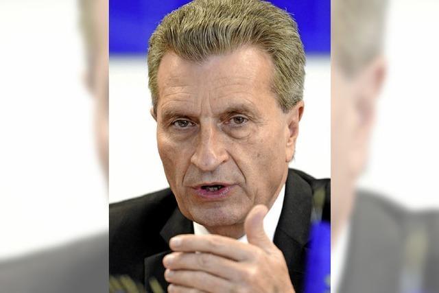 Oettinger hat sich in sein Amt hineingearbeitet