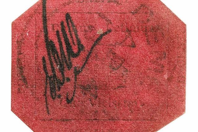 Eine Briefmarke für 9,5 Millionen Dollar