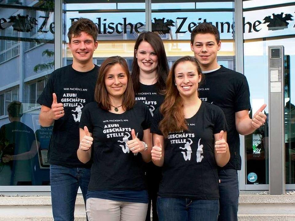 Das Team der Azubiwoche  Lahr 2014.   | Foto: Natalie Schenk