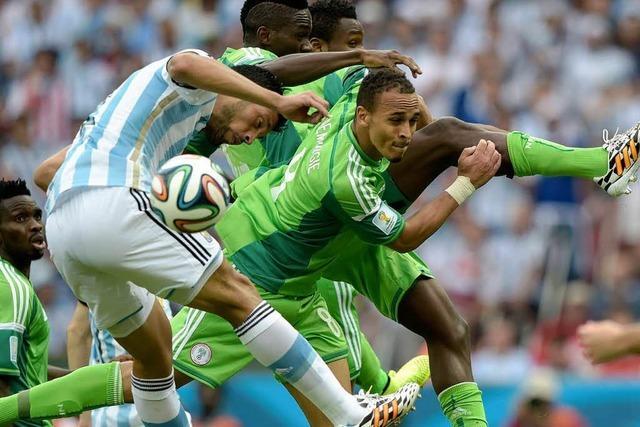 Nigeria trotz Niederlage gegen Argentinien im Achtelfinale