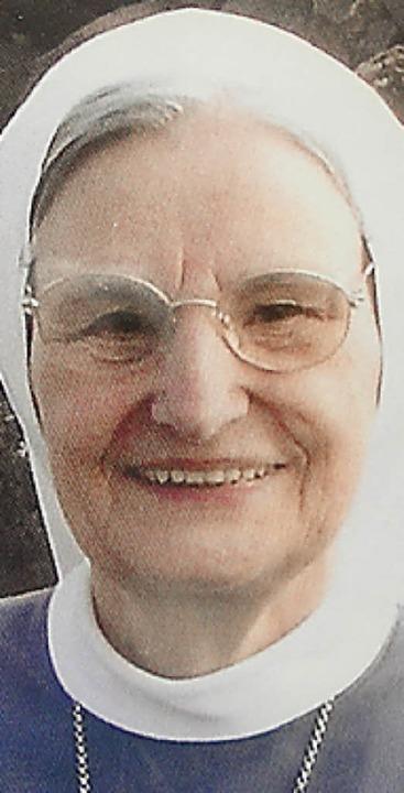 Schwester Walburgis  | Foto: Hansjörg Bader