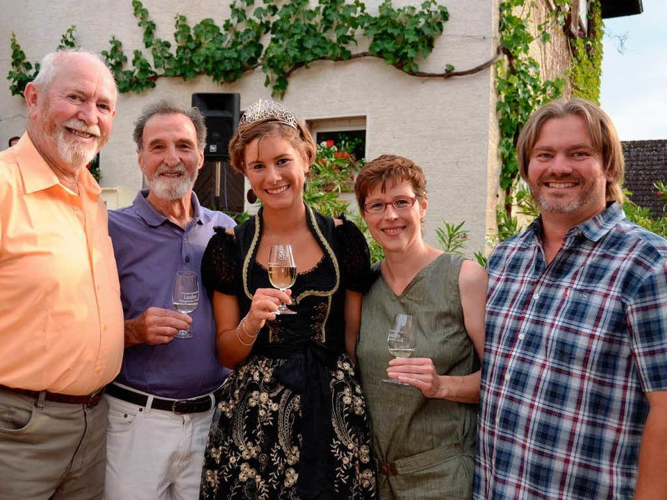 Josefine Schlumberger mit ihren Eltern...lumberger und Hermann Zenzen (v. l.).   | Foto: Umiger