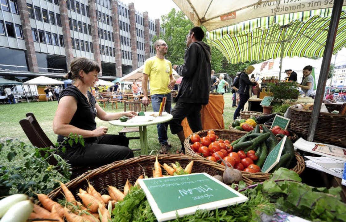 Beim Agrikulturfestival auf dem Platz ...ofes Piluweri aus Müllheim-Hügelheim.   | Foto: Thomas Kunz