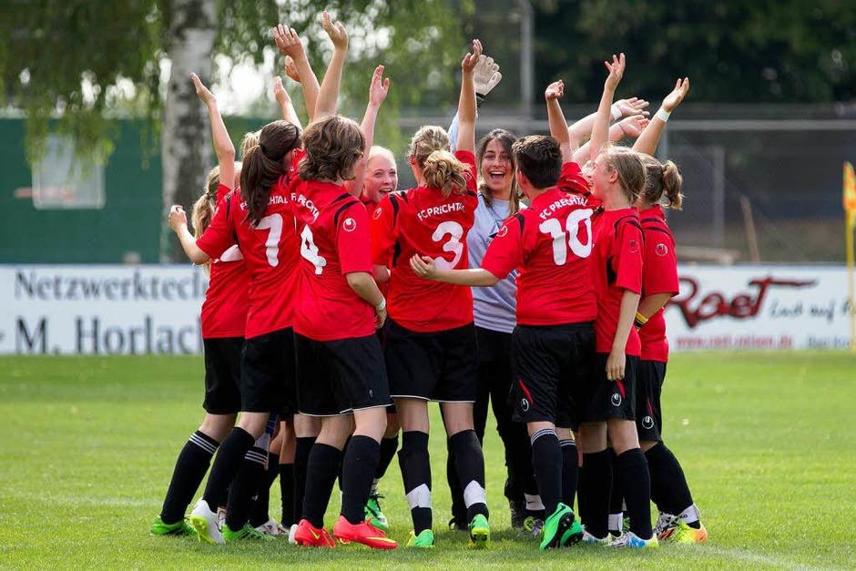 Die C-Juniorinnen des FC Prechtal gewannen gegen den SV Titisee mit 2:0. (Foto: Daniel Fleig)