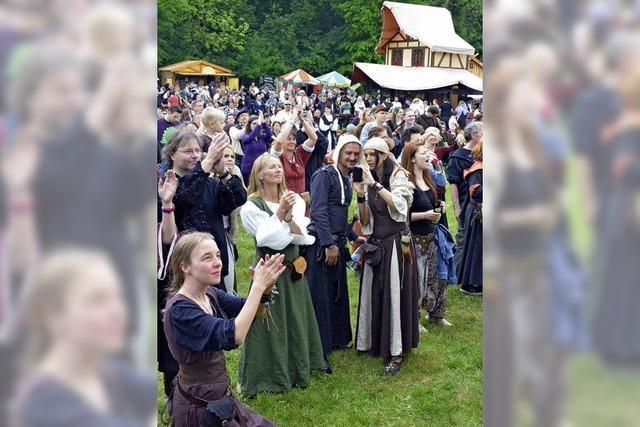 Mittelalterliche Phantasie Spectaculum im Dreiländergarten in Weil am Rhein