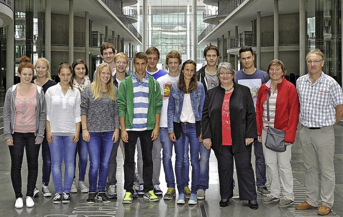 Die Schüler des Marie-Curie-Gymnasiums...such in der Bundeshauptstadt  Berlin.   | Foto: Privat