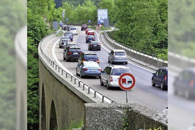 Wegen des Staus auf der Autobahn sollen keine Ziegen sterben