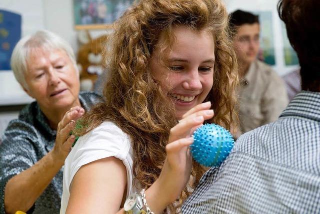 Beim Service-Learning üben Schüler das Engagement