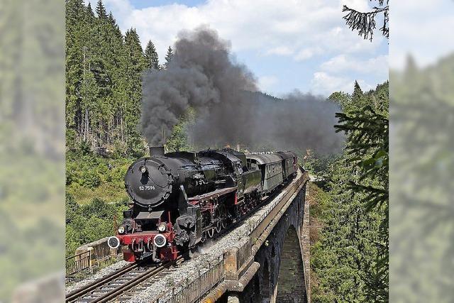 Mit dem Dampfzug durch den Schwarzwald
