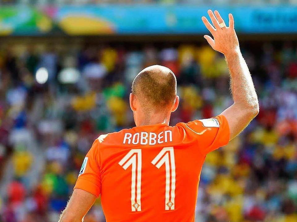 Der fliegende Holländer: Arjen Robben  | Foto: AFP