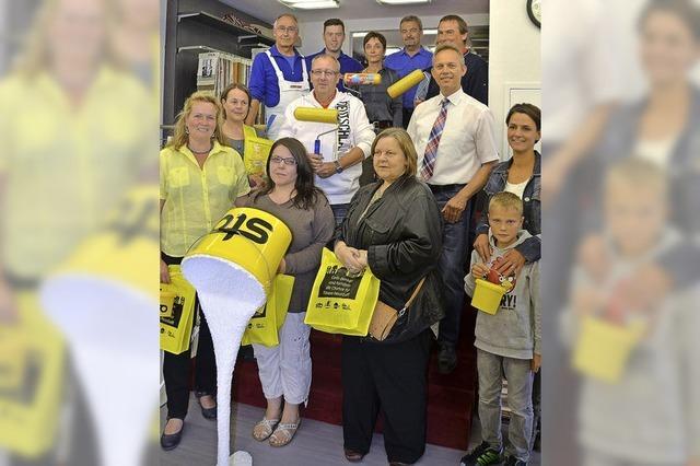 Gewinner in gelben Häusern