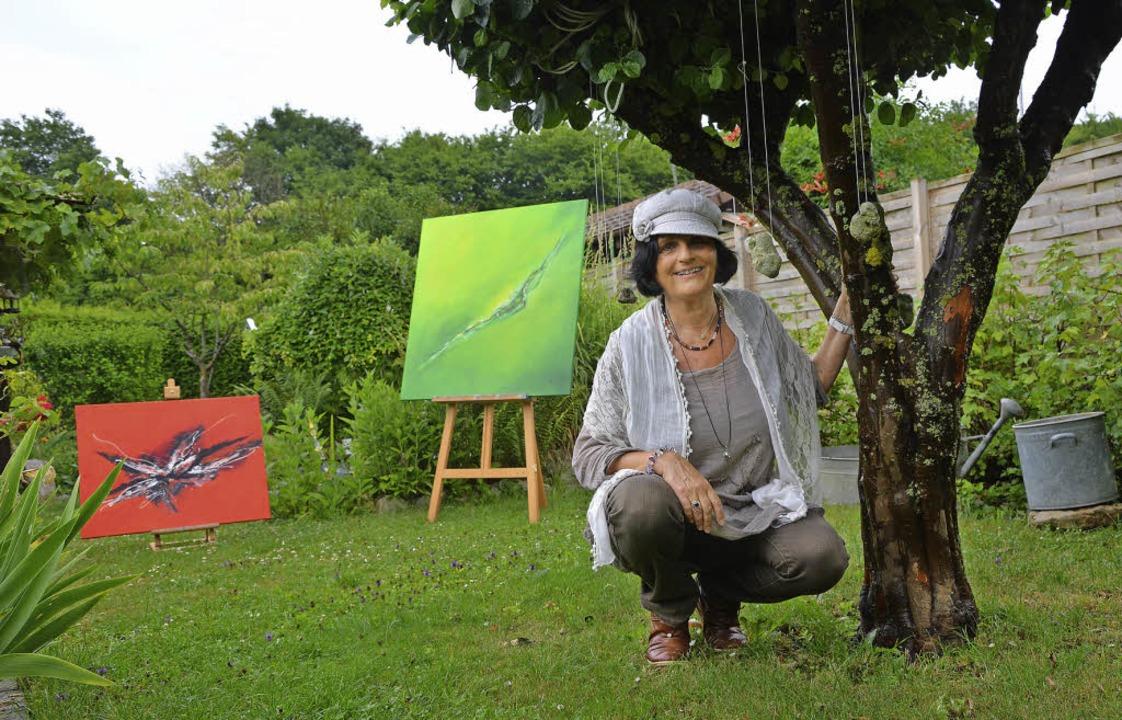 Ausstellung im Garten-Atelier: Petra Pompé   | Foto: Barbara Ruda