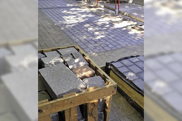 Bauausschuss begutachtet neues Pflaster für den Rotteckring