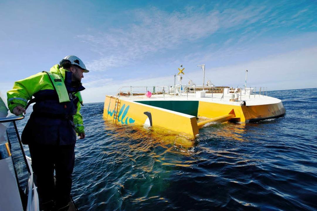 System-Ingenieur Ali Pekcan von der fi...ess vor Orkney-Mainland in Schottland.  | Foto: Jan Oelker