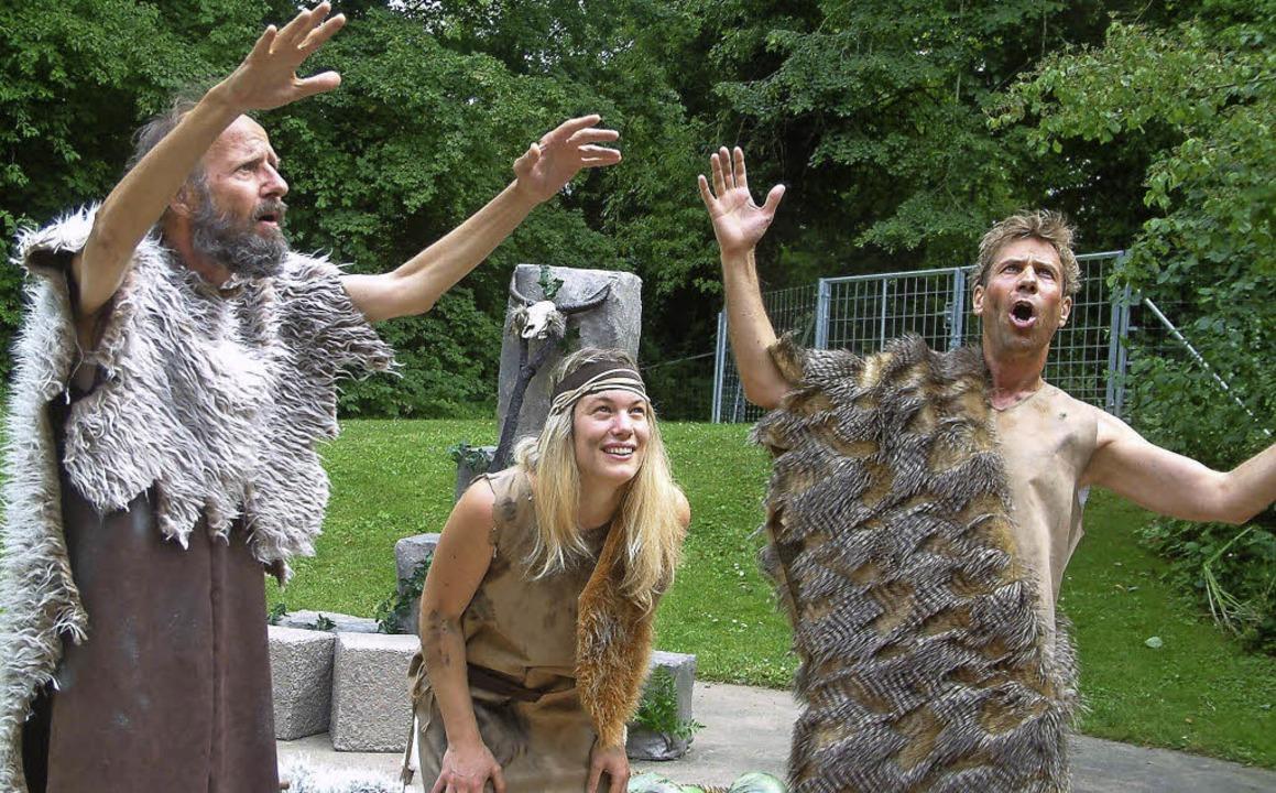 Große Aufregung in der Steinzeit-Familie   | Foto: Rositha Frey