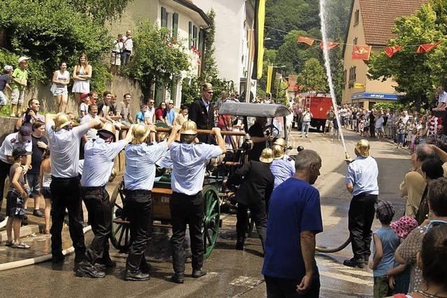 Inzlingen im Zeichen des Feuerwehrfestes