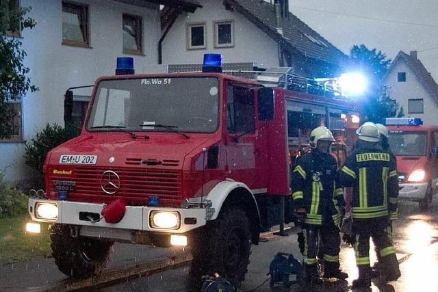 Gewitter über Südbaden: Feuerwehr muss Keller auspumpen
