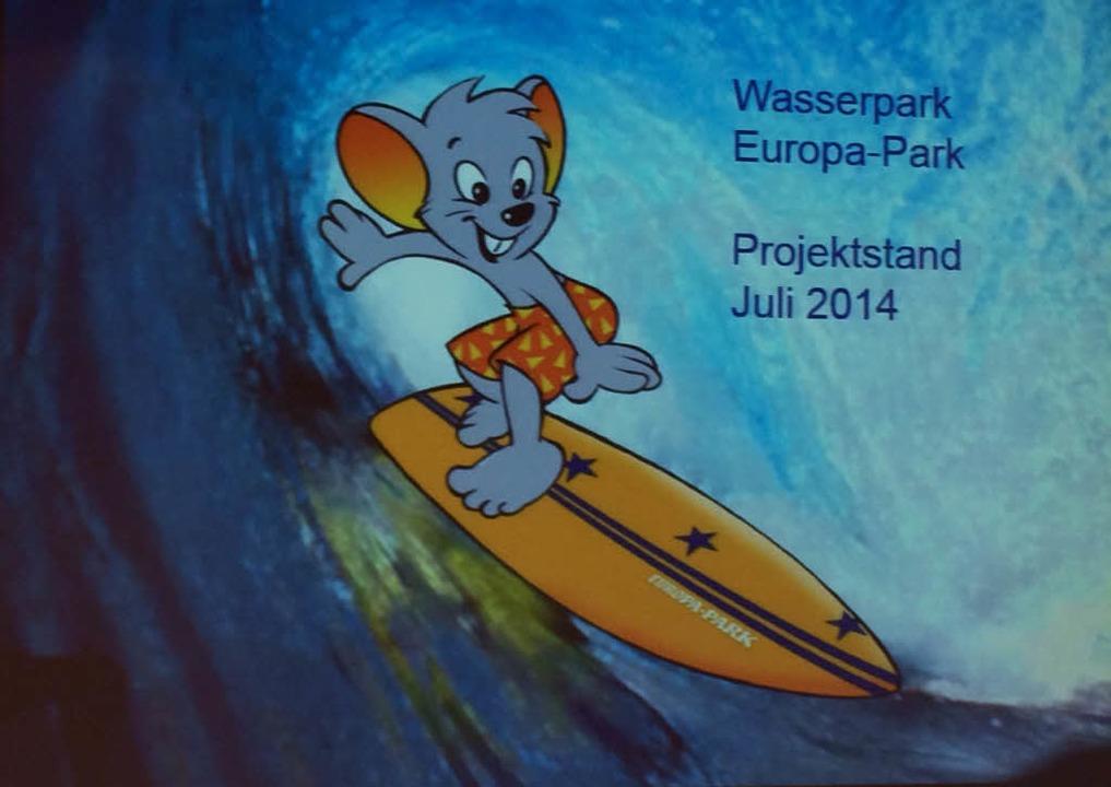 Die Euromaus auf dem Surfbrett.  | Foto: Europa-Park