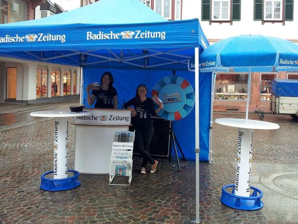 Der Aktionsstand der BZ-Azubis  | Foto: BZ