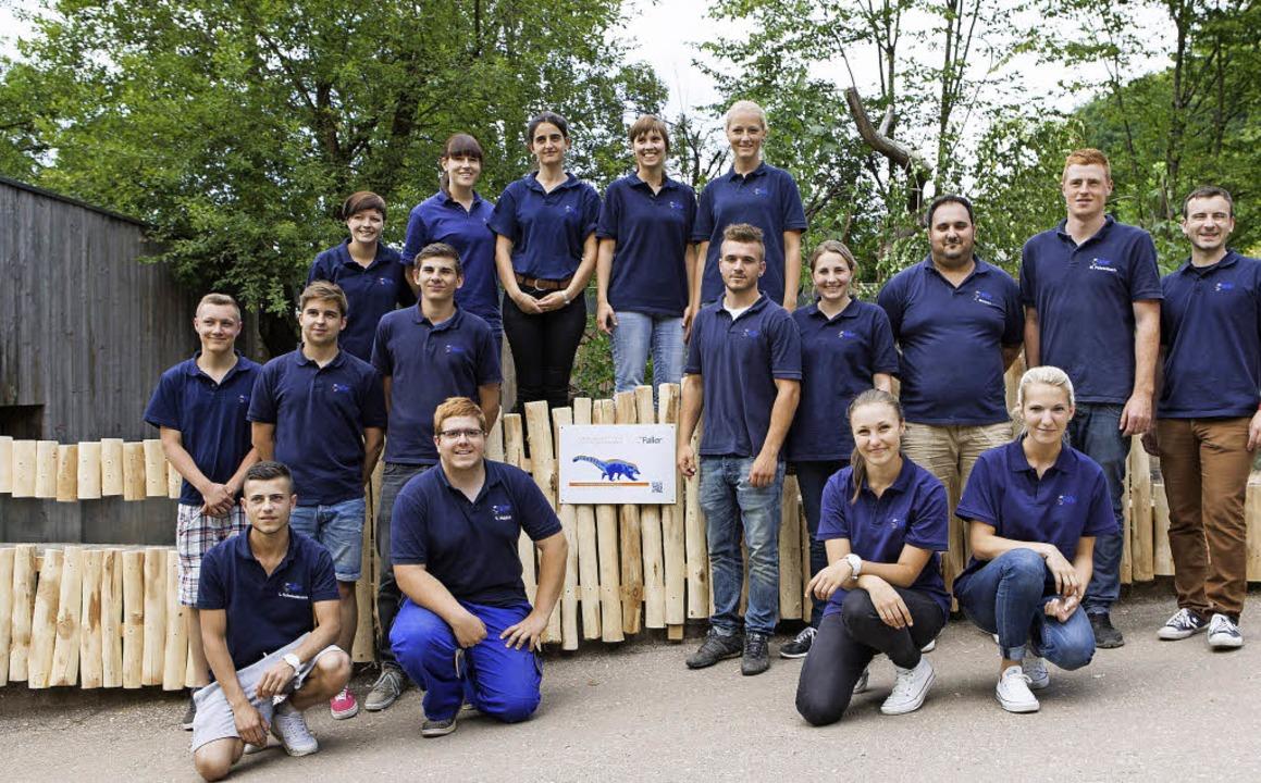 Die Auszubildenden der August Faller K... Bild Ausbildungsleiter Michael Kury.   | Foto: Gabriele Zahn