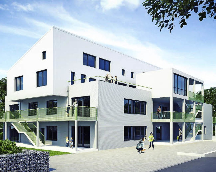 So in etwa könnte der Neubau am Schnaitweg aussehen.   | Foto: Visualisierung: 3D-Agentur Visualtektur