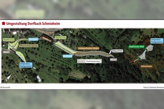Wasser des Dorfbachs soll in Schach gehalten werden