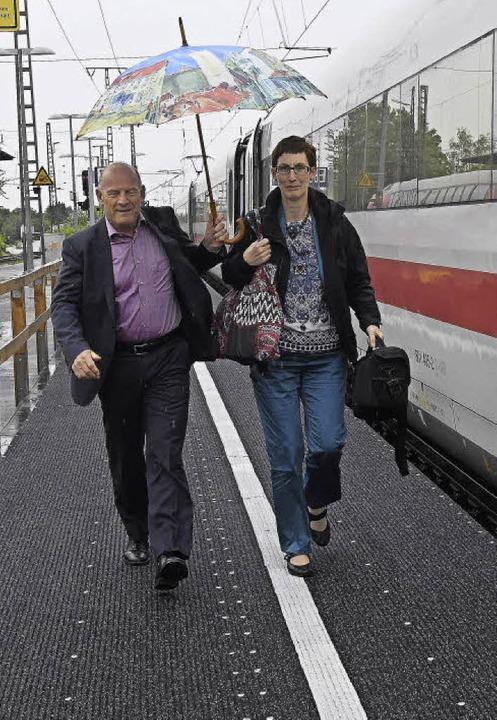 Verkehrsminister Hermann in Müllheim  | Foto: Volker Münch