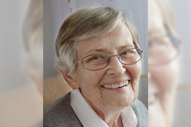 Gisela Pfaff wurde 85 Jahre