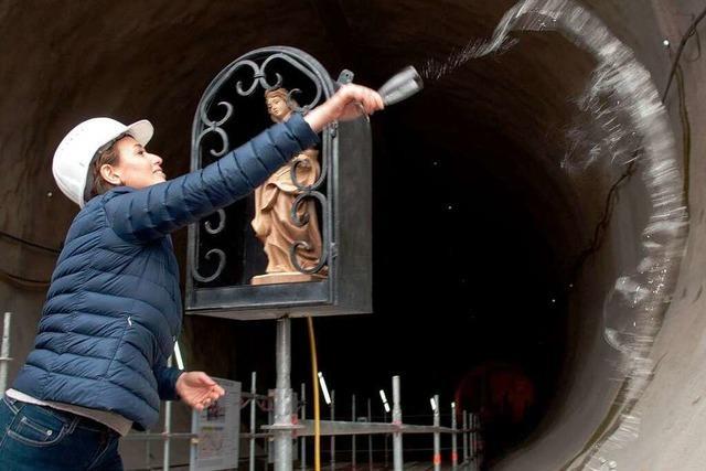 Die Grünen kommen zur Taufe des Fildertunnels
