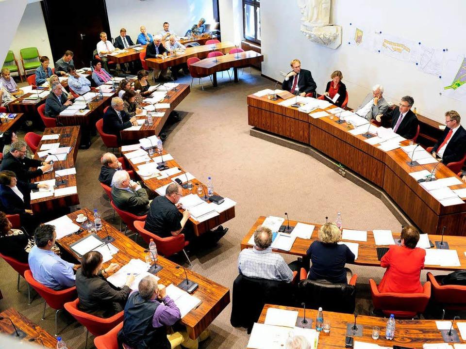In den Freiburger Ratssaal halten neue Parteien und Gruppierungen Einzug.  | Foto: Thomas Kunz