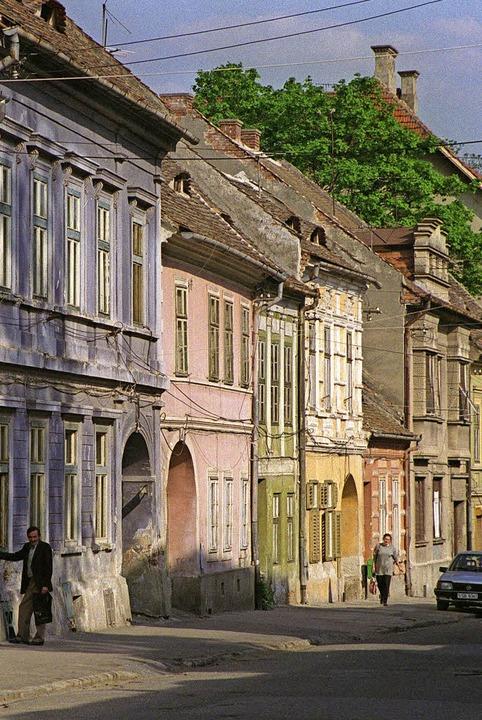 Häuserfront in Sibiu   | Foto: gMS