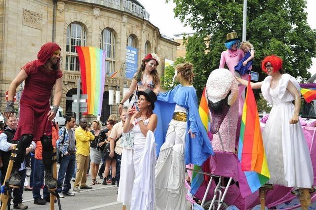Gigantische Party für Gleichberechtigung in Freiburg