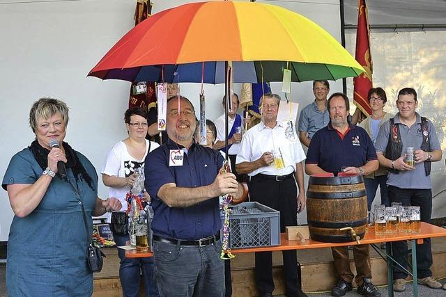 Ein Schirm für den Schirmherrn
