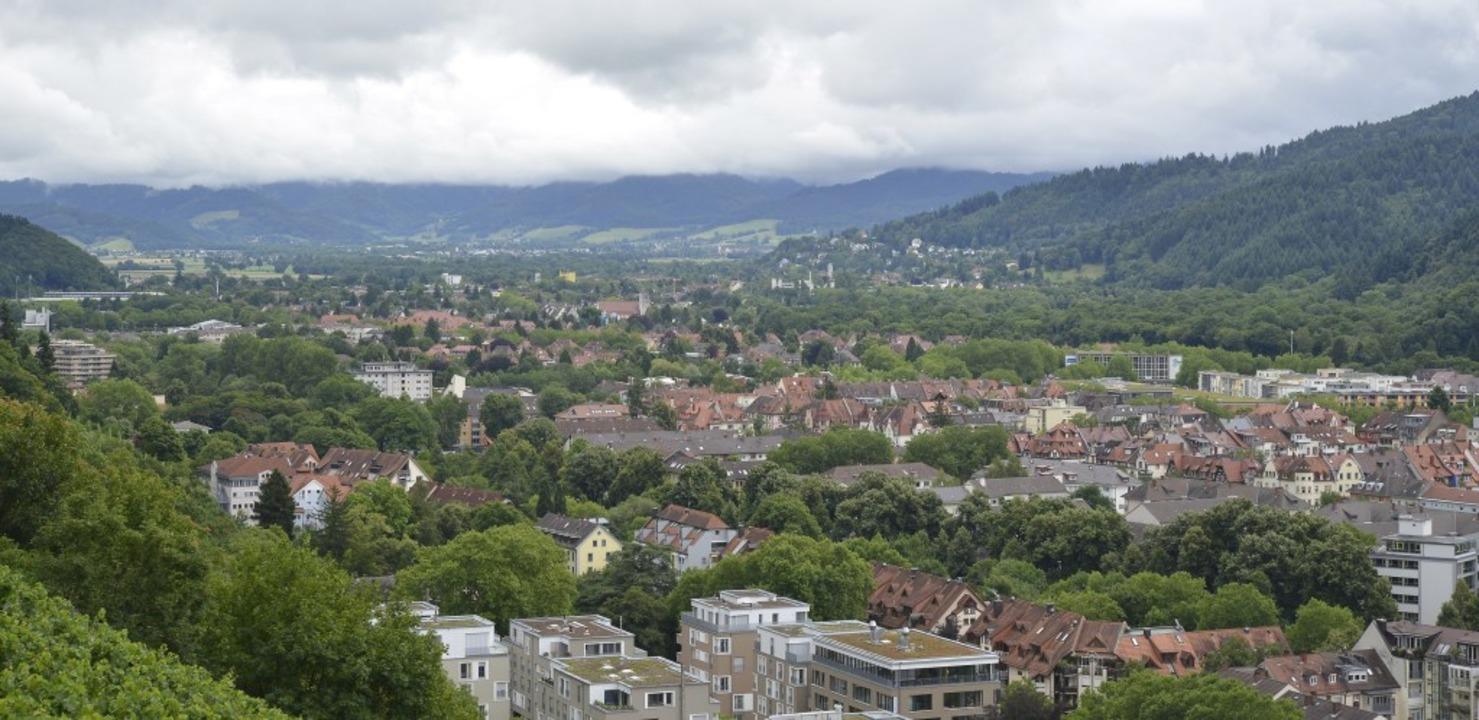 Der Freiburger Osten samt dem Stadttei...e ist inzwischen viel dichter bebaut.   | Foto: Michael Bamberger